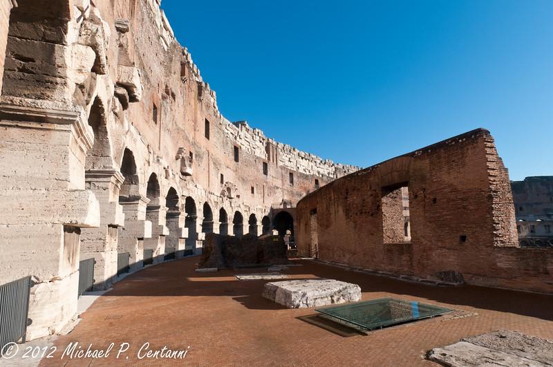 Inside the Coliseum, upper levels