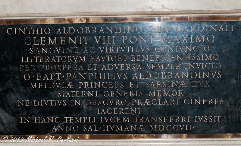 Grave of Clementi VIII<br /> San Pietro in Vincoli (Saint Peter in Chains)