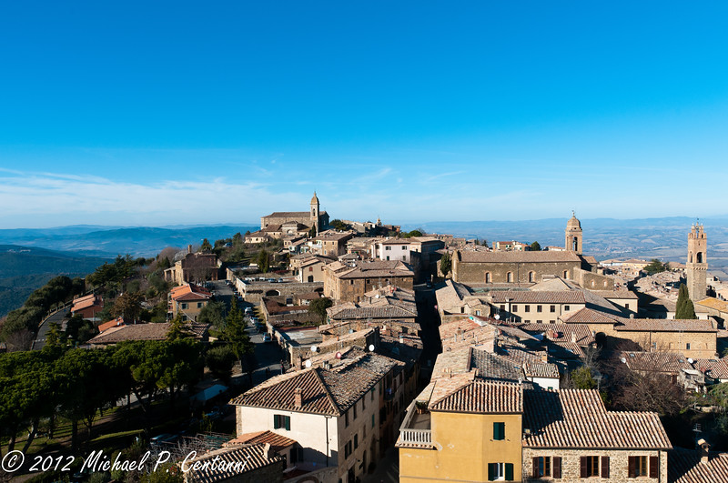 Looking at Montalcino from the Fortezza