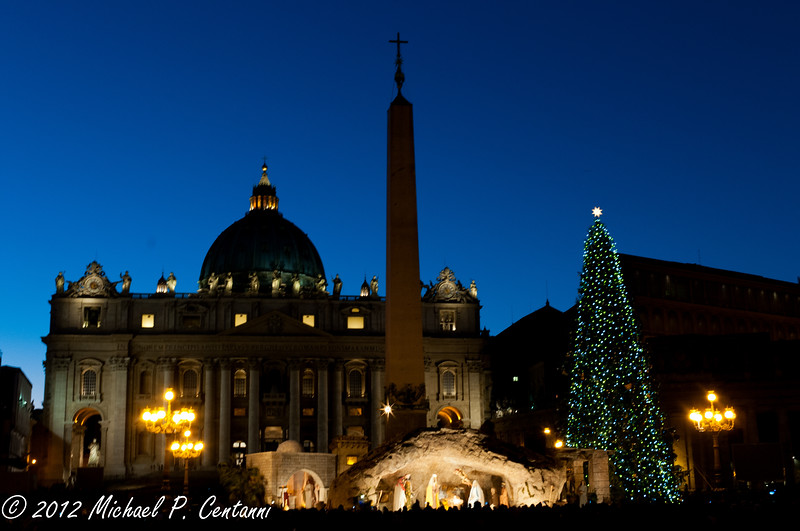 Nativity in St Peters Square, Vatican City