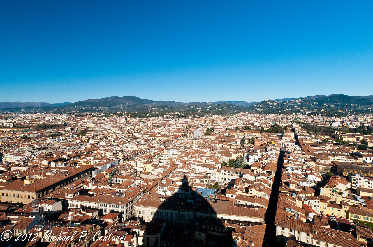 View of Florence from the top of the Duomo