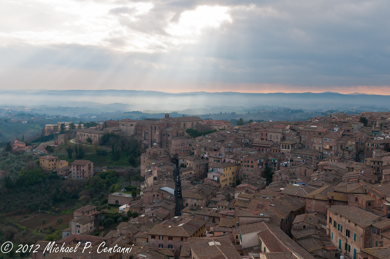 From the top of the Torre del Mangia, Siena