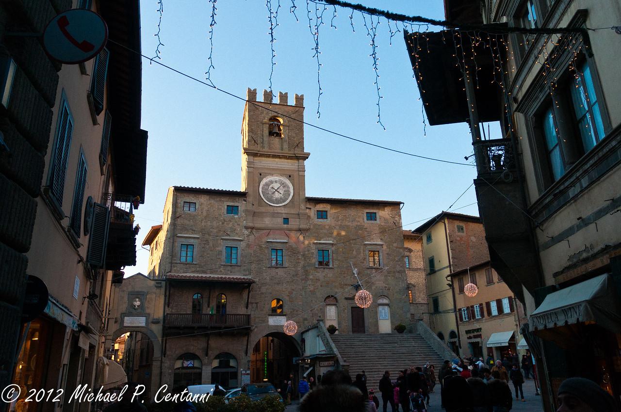 Il municipio<br /> Piazza della Republica, Cortona
