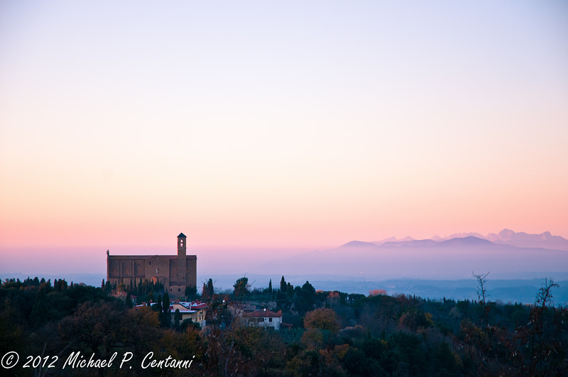 Sunset in Volterra