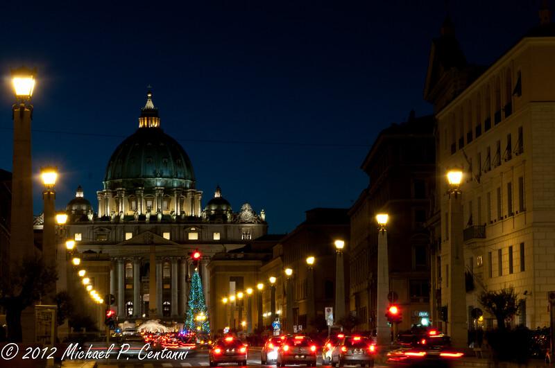 St Peters Basilica from Via della Conciliazione