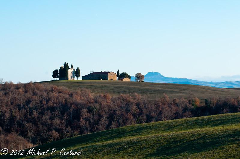 Between Montalcino and Montepulciano