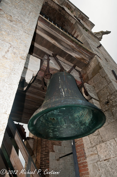 The bell at the Torre di Mangia