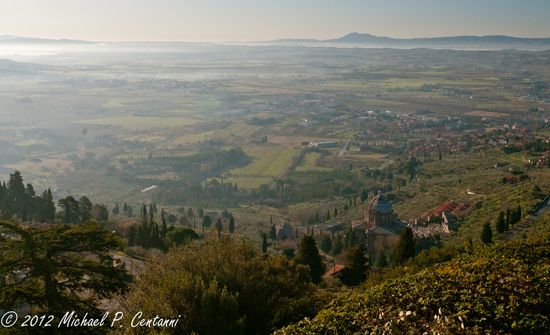 Looking out from Cortona