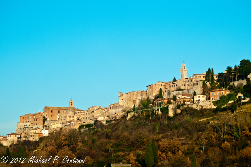 Montepulciano from the road
