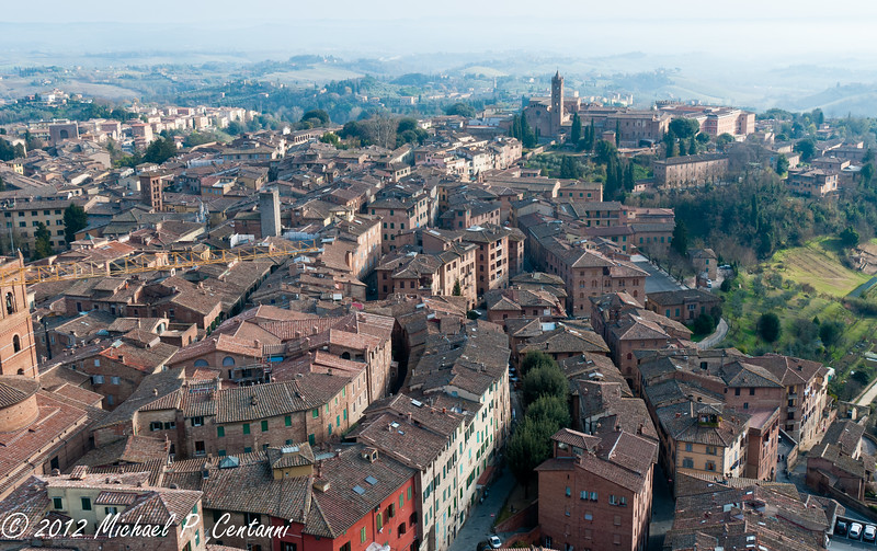 Above Siena from the Torre di Mangia