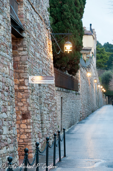 The walls surrounding Assisi