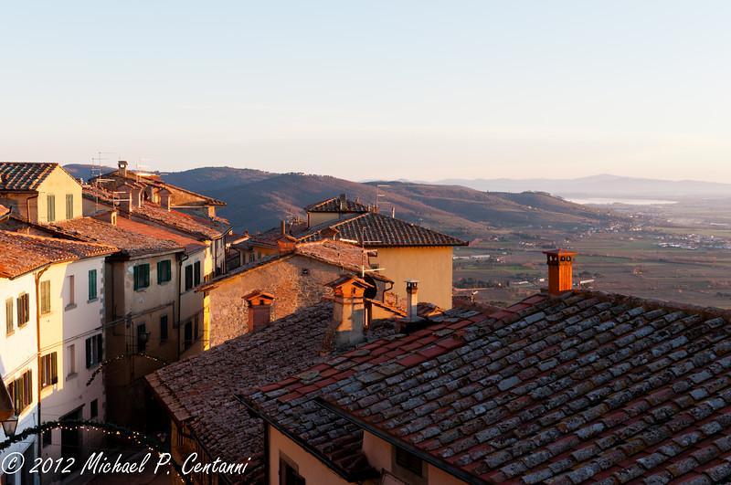 Rooftops in Cortona