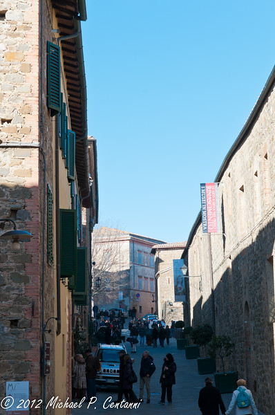 Out and about in Montalcino on New Years day