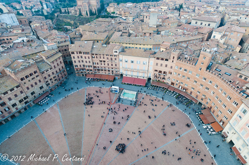 Il Campo from the Torre di Mangia