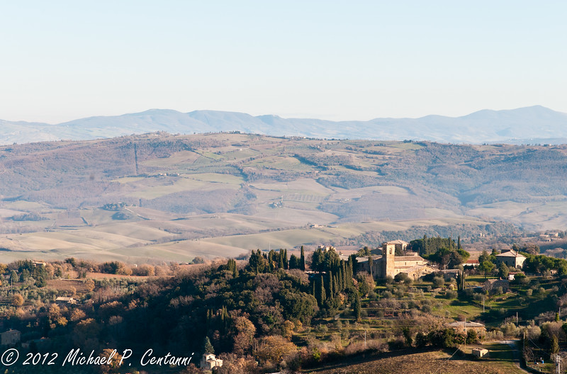 Looking out at the countryside from Montalcino