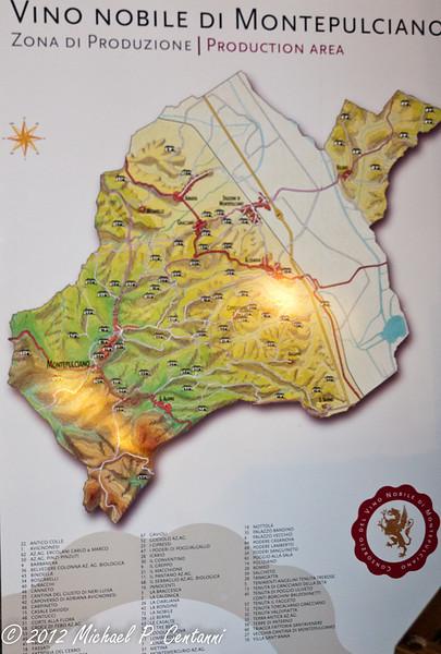 Production area of Vino Nobile di Montepulciano