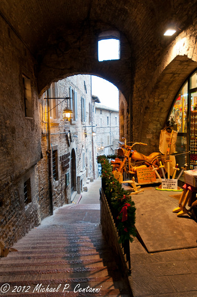 An alley in Assisi