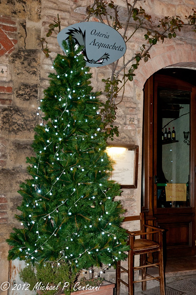 Outside Osteria Acquacheta, Montepulciano