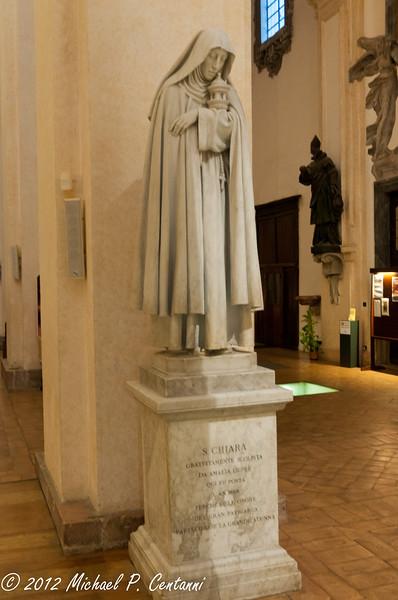 Inside San Rufino - Statue of St Clare