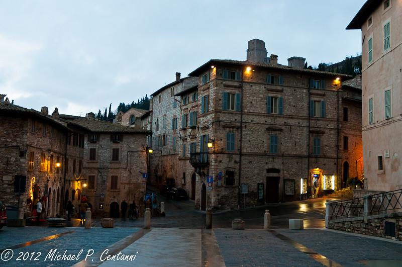 outside of San Rufino, Assisi