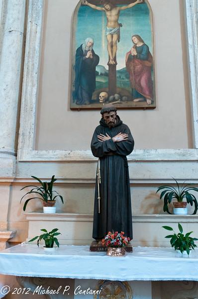 Inside a church in Montepulciano