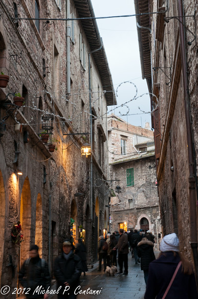 Christmas decorations in Assisi