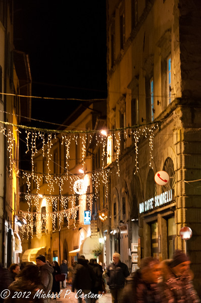 Christmas time - Via Nazionale, Cortona