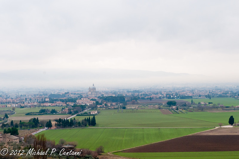 Looking out to Santa Maria Degli Angeli from Assisi