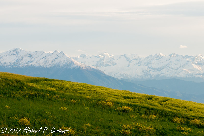 The Alps around La Torricella, Monforte d'Alba