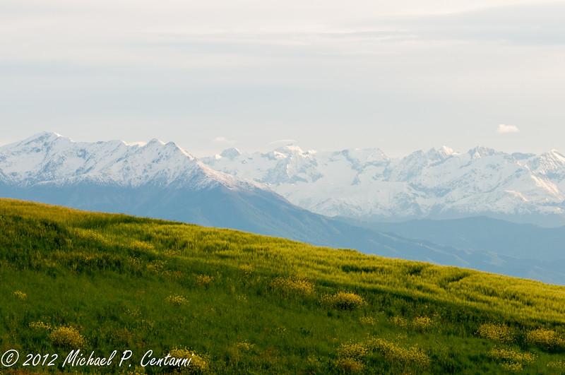 The Alps around La Torricella, Monforte d'Alba