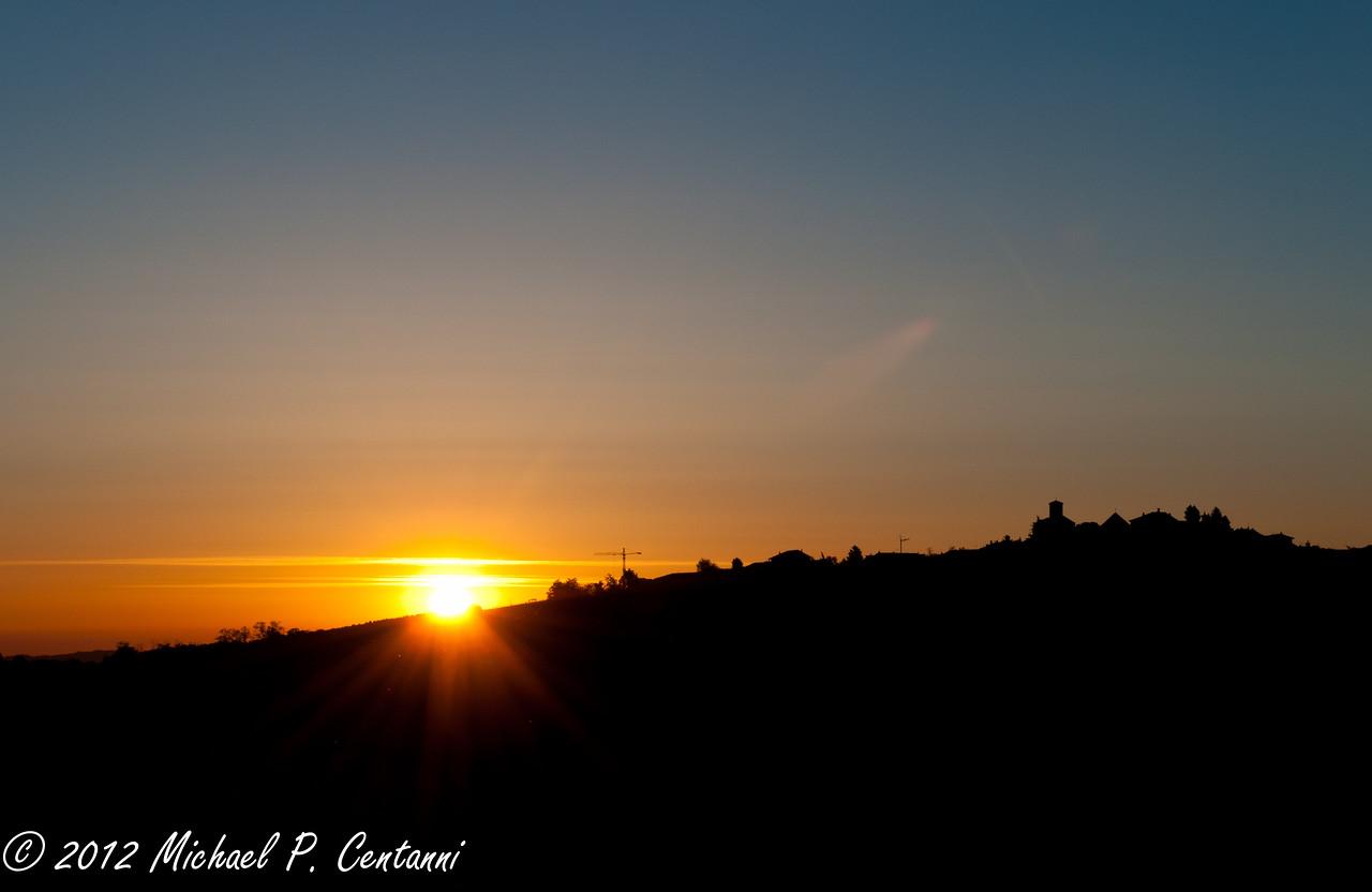 Sunrise over Verduno