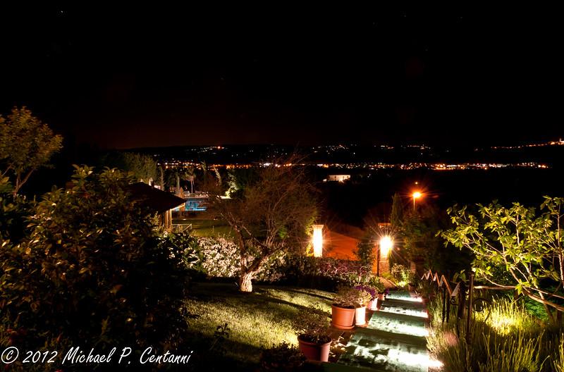 Bricco dei Cogni at night