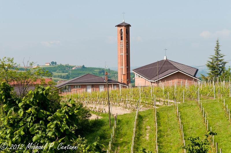 Vineyards and church