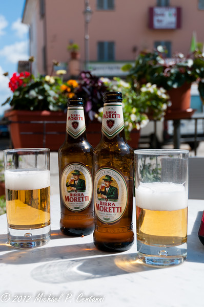 Relaxing with a Birra Moretti!