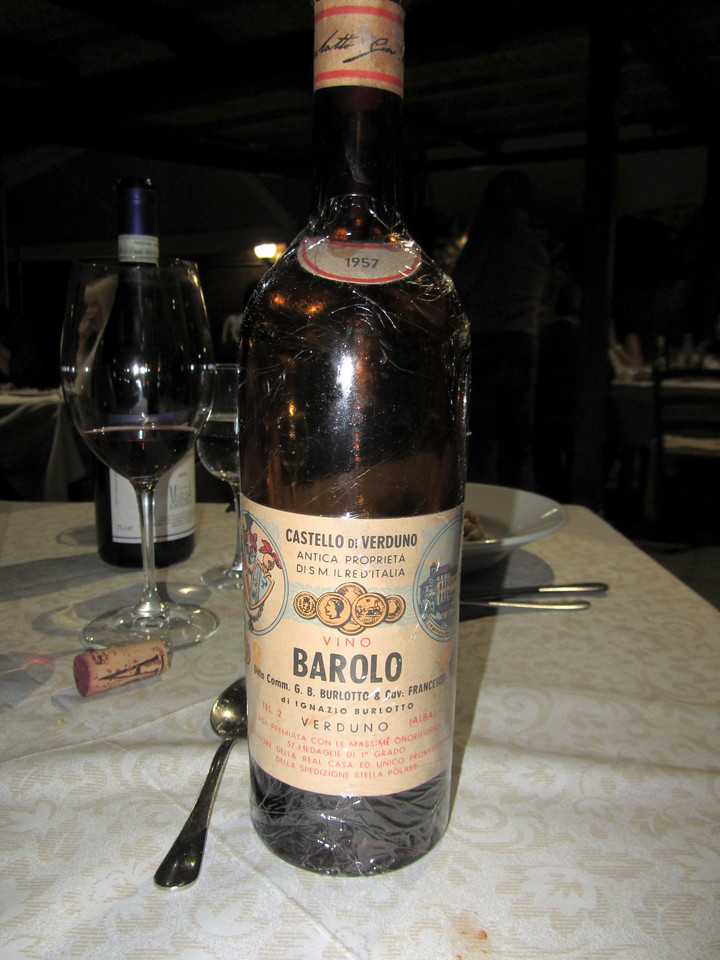 the 1957 Barolo used for the risotto