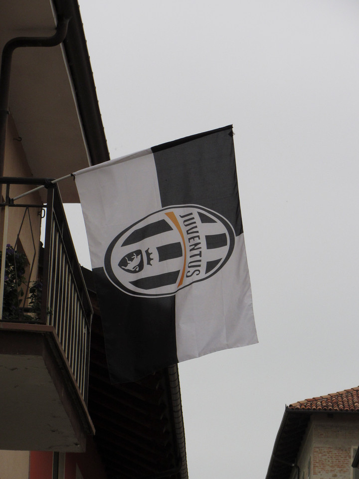 Juventus fan in Cherasco - Serie A soccer club on the eve before winning the Serie A title