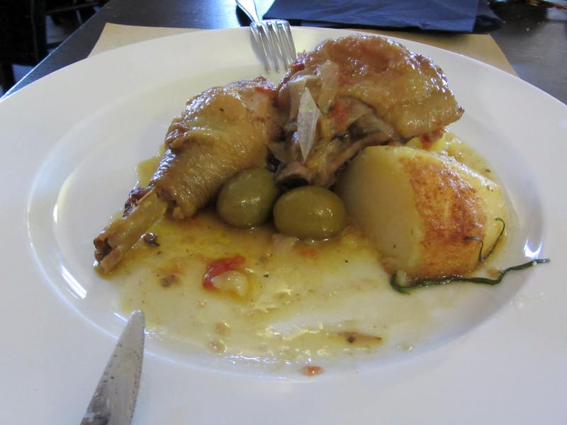 Pollo con olive