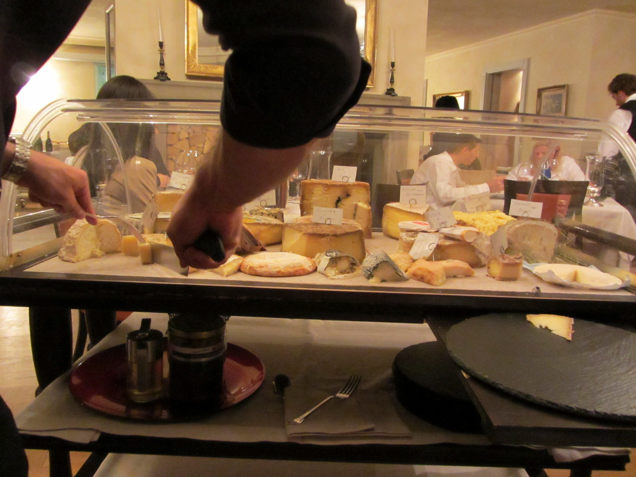 The cheese cart!