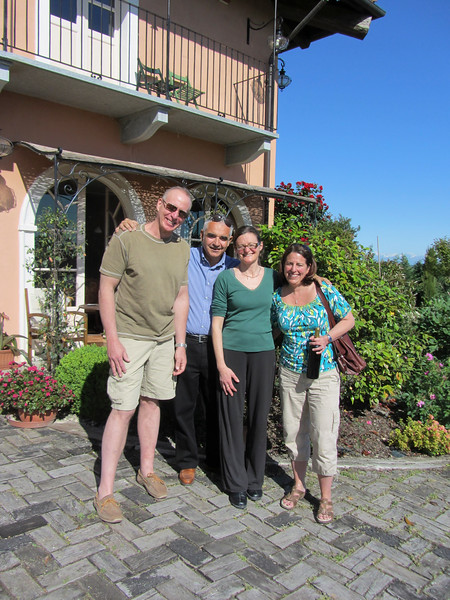 Us with Livio and Claudia at Bricco dei Cogni