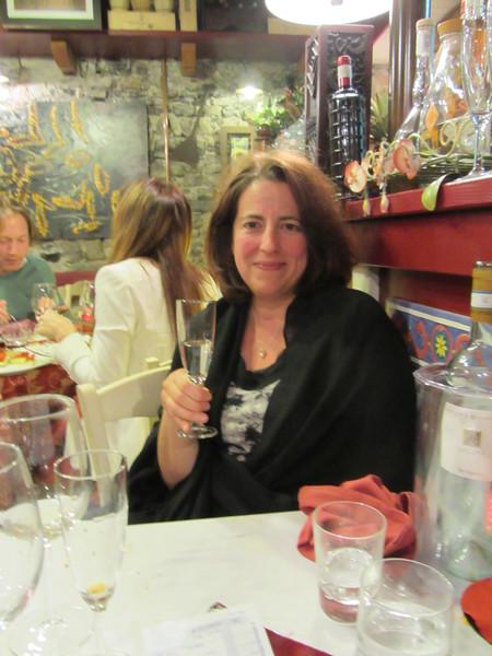 sipping a grappa at Borgovino in Varenna