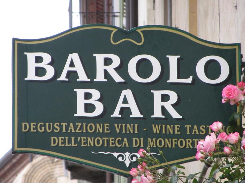 The Barolo Bar in Monforte d'Alba