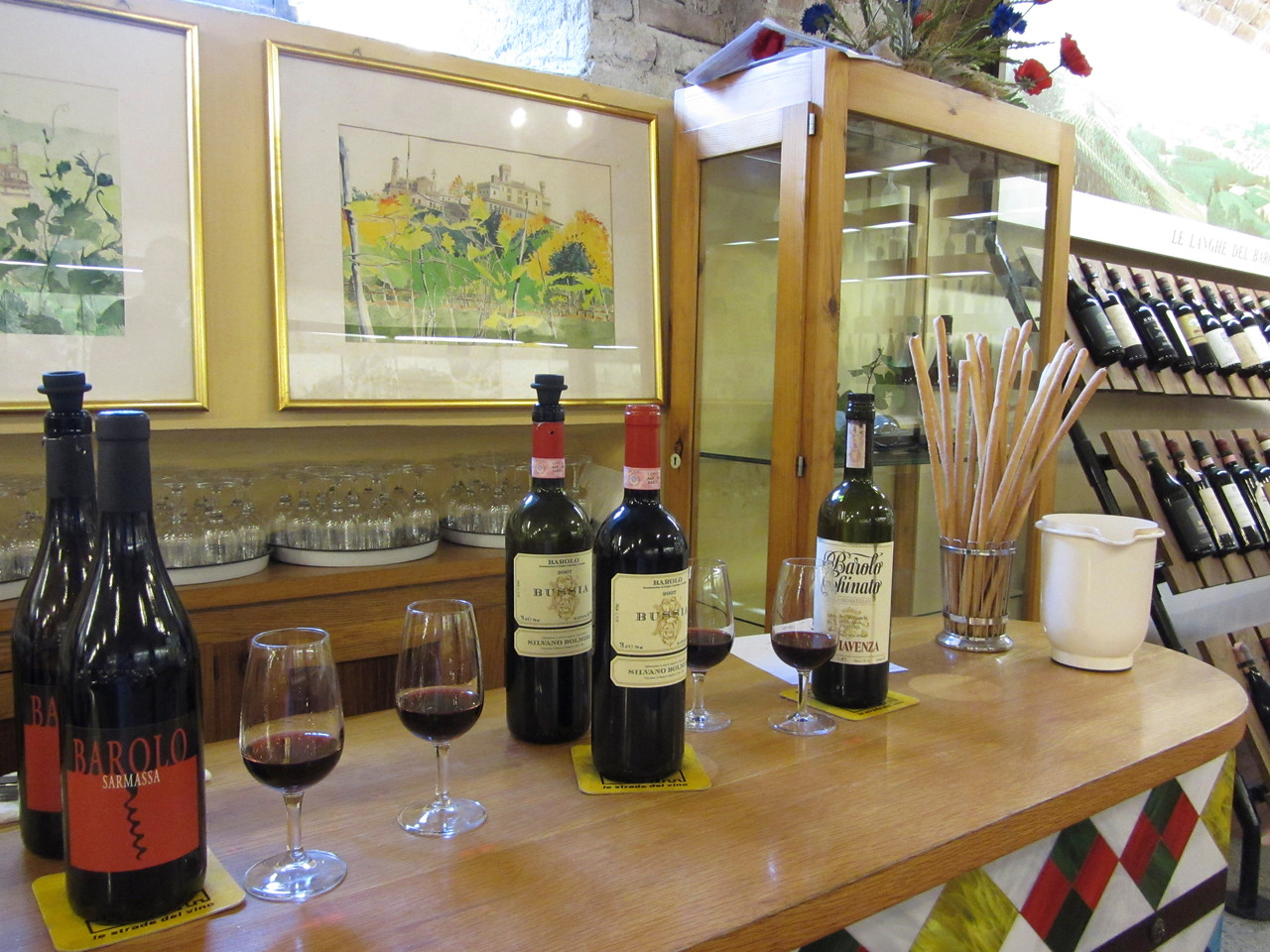 tasting Barolo at the Enoteca Regionale del Barolo