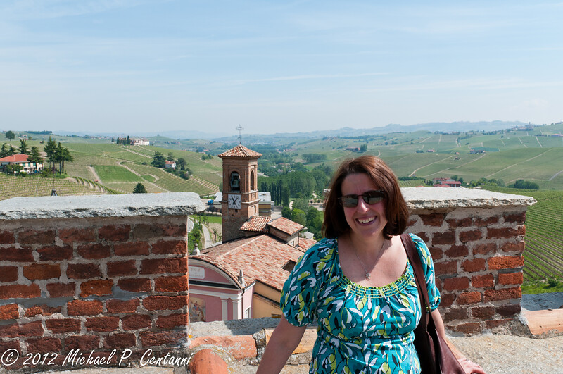 On the roof of the Barolo Museum & Enoteca Regionale del Barolo