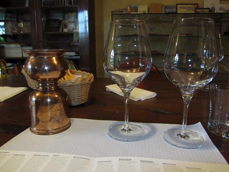 The tasting room at Oddero