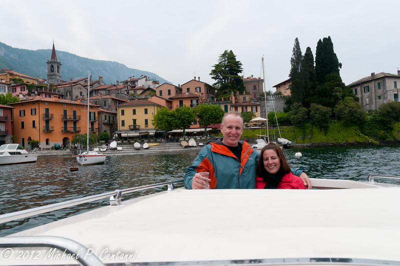 in the Varenna harbor