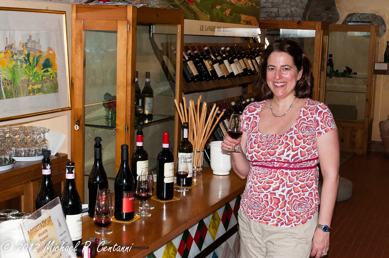 tasting Barolo at the Enoteca Regionale del Barolo
