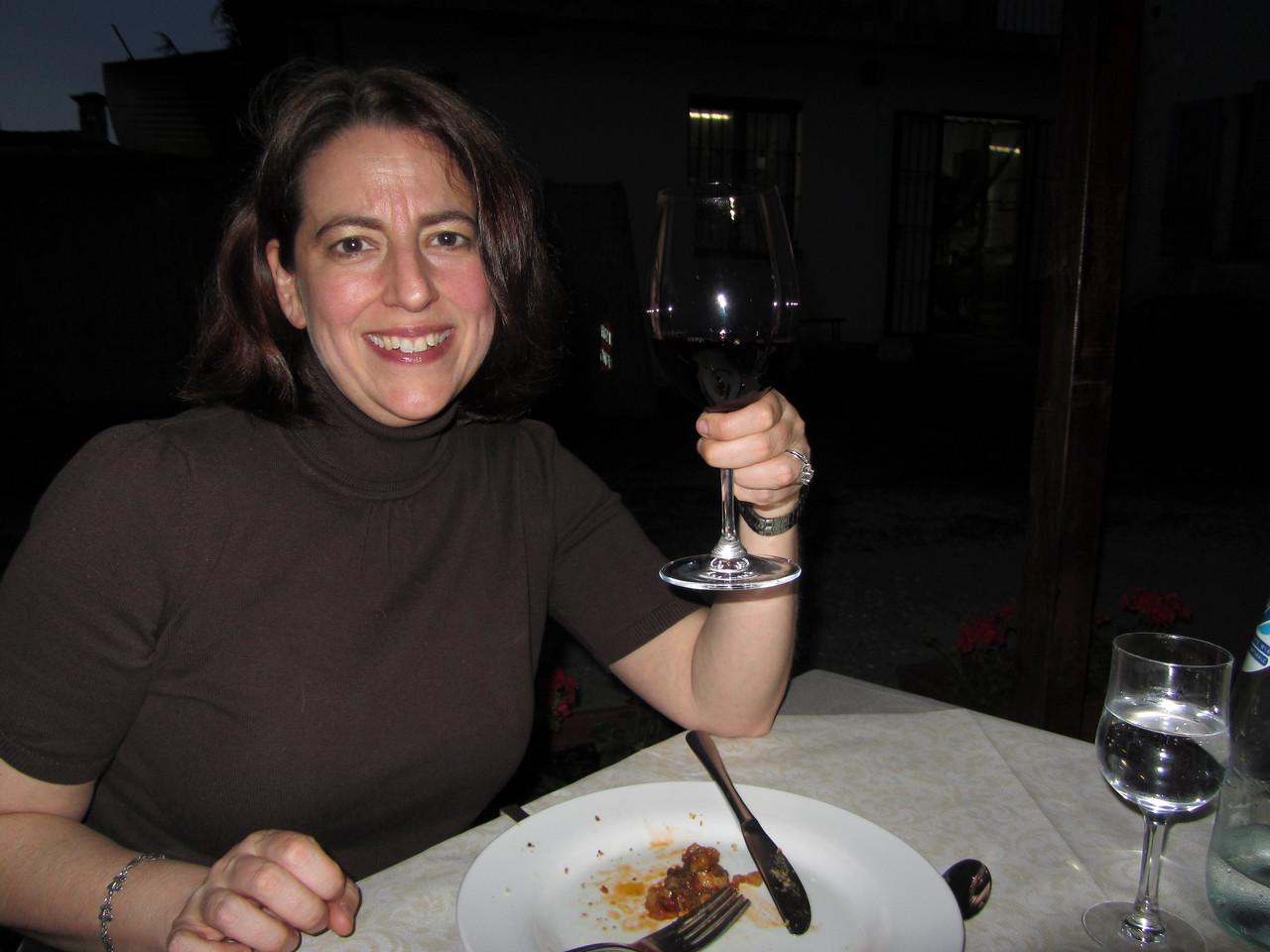 Our first dinner at Trattoria Dai Bercau.