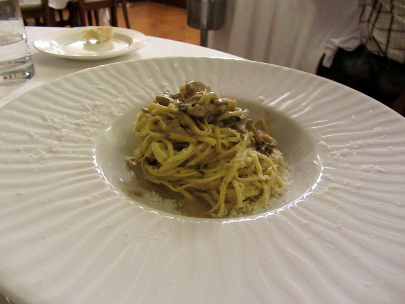 Tajarin with porcini mushrooms