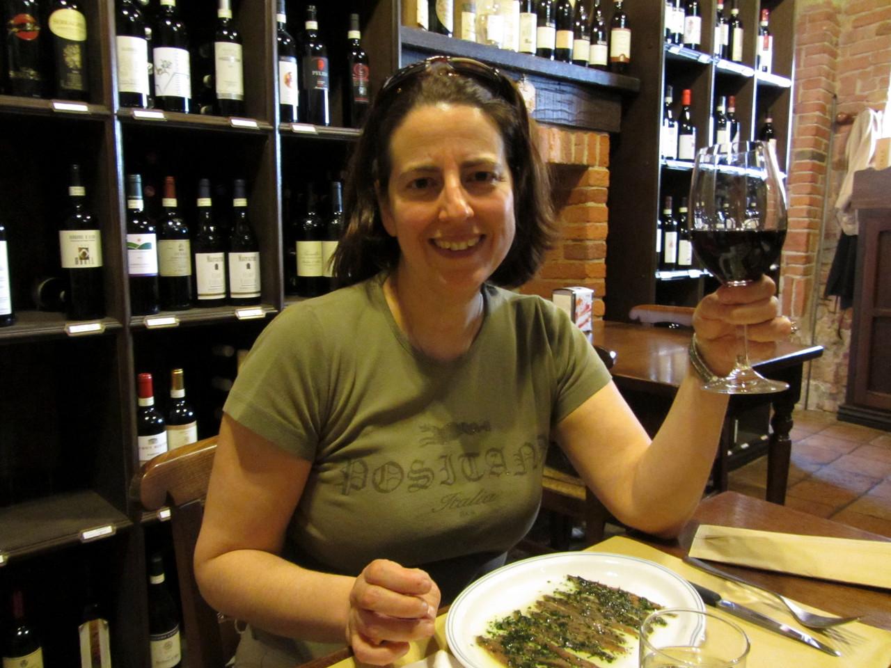 our first lunch in La Morra - Acciughe Con Salsa Verde