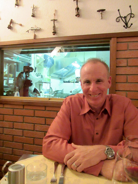 In front of the kitchen at Il Cavatappi